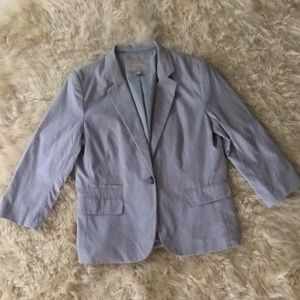 Gray Banana Republic 14 Large Lg L Blazer suit Top